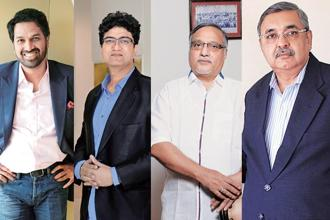 From left: Sandeep Naik, Prasoon Joshi, Hisamuddin Papa and Chandubhai Mehta.