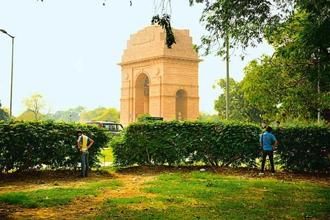 Photographs by Pradeep Gaur/Mint. People find it convenient to pee in the hedges at India Gate.