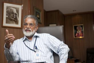 File photo of former chief K. Radhakrishnan. 'The data being received from the Mars Mission is of very good quality. Scientists find it to be very useful while analysing it' says K. Radhakrishnan. Photo: Mint