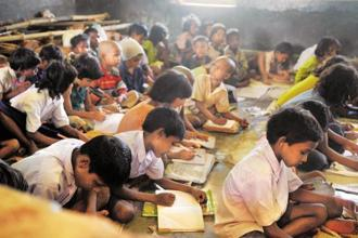 The school sector will see a cut of nearly 25% in its planned outlay, from Rs51,828 crore in the last budget to Rs39,038.5 crore this year. Photo: Indranil Bhoumik/Mint