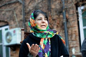 A file photo of PDP chief Mehbooba Mufti. Photo: AFP