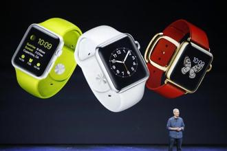 Another leap: Tim Cook's first product as Apple's CEO, the Apple watch is designed for messaging, calls and a cornucopia of health-related and other apps. As claimed, it has a battery life of eighteen hours (a breakthrough if that actually happens). AFP