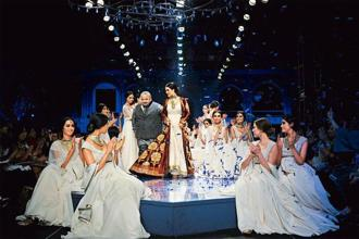 J.J. Valaya's finale at the Autumn/Winter Wills Lifestyle India Fashion Week (WIFW), 2012.