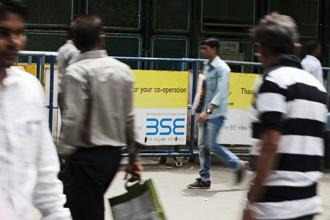 A file photo of the BSE premises in Mumbai. Photo: Bloomberg