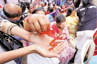 The National AIDS Control Organization (Naco) needs Rs20 crore to place orders for condoms. Photo: Vijayanand Gupta/Hindustan Times