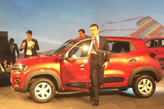 Renault CEO Carlos Ghosn at the unveiling of the Kwid at Chennai on Wednesday. Photo: Mint