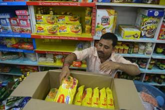 Total Maggi sales in India, including sauces and condiments, account for less than 1% of Nestle's group annual sales, but brand damage could be significant in a country where the noodles are ubiquitous, in homes and roadside eateries. Photo: AFP