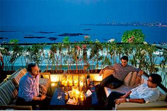 Long & Short offers spectacular views of Marine Drive. Photo: Aniruddha Chowdhury/Mint