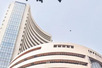 A file photo of the BSE building in Mumbai. Photo: PTI