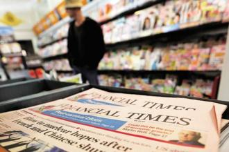 Pearson sold The Financial Times Group on Thursday to Japanese media firm Nikkei for £844 million in cash. Photo: Bloomberg