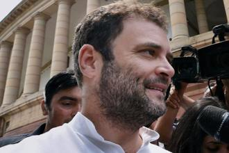 """Sushmaji has done a criminal act. She is a minister of the government and the whole country knows she has done a criminal act,"" Rahul Gandhi told the media. Photo: PTI"
