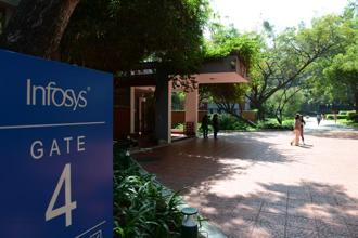 Over the past four days, Infosys stock has risen 8%. Year-to-date, Infosys shares are up 18.5%. Photo: Hemant Mishra/Mint