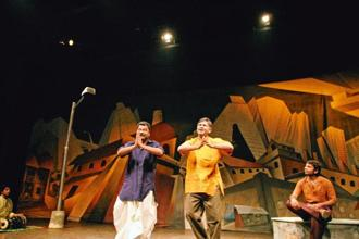A scene from the play 'Cotton 56 Polyester 84'. Photo: Kartikey Shiva