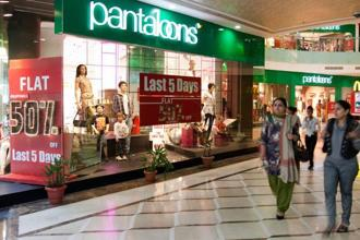 Pantaloons reported net sales of <span class='WebRupee'>Rs.</span>433.70 crore for the quarter ended. Photo: Bloomberg
