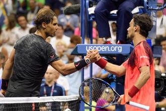 It was Rafael Nadal's (left) first grand slam loss after winning the first two sets of a match. The only previous such defeat in his career came 10 years ago in the Miami finals to Roger Federer. Photo: Don Emmert/AFP