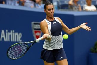 Pennetta won five of the last seven points in the decider. Photo: AFP