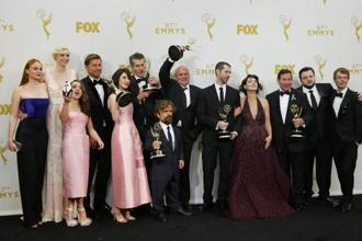 The cast of HBO's medieval fantasy series 'Game of Thrones' which was the night's biggest winner with 12 Emmys. Photo: Reuters