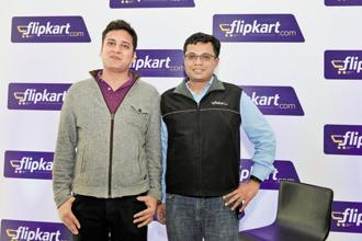 Binny Bansal (left) and Sachin Bansal, founders of Flipkart. Since 2013, Flipkart has been slowly shifting to a marketplace model, where it connects customers to thousands of third-party sellers. Photo: Hemant Mishra/Mint