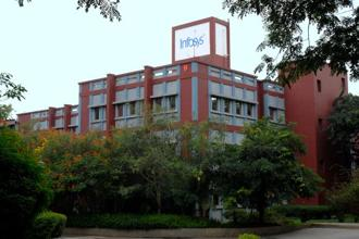 Infosys shares fell 2.2% to Rs1,155.70 on Tuesday from a record high, and was the biggest drag by points on the 50-stock CNX Nifty Index. Photo: Hemant Mishra/Mint