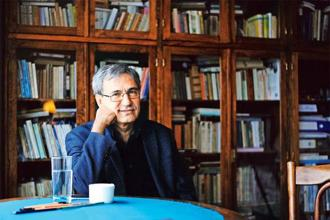 Orhan Pamuk at his home in Istanbul. Photo: Ozan Kose/AFP