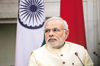 File photo. Speaking at a global conference organized by the CBI, Prime Minister Modi had said that the Paris terror attacks revealed the remarkable flexibility and adaptability of terror networks in meeting their funding requirements. Photo: Bloomberg
