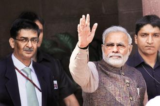 Modi says India will not create any 'problems' for the world in combating global warming. Photo: Hindustan Times