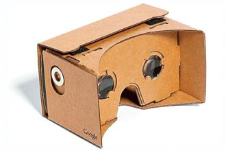 Google Cardboard is a simple, yet futuristic device.