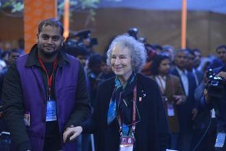 Margaret Atwood at Jaipur Literature Festival. Photo: Priyanka Parashar/Mint