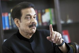 A file photo of Sahara chief Subrata Roy, who used his series of small deposit plans to build Sahara into an empire. Photo: Bloomberg