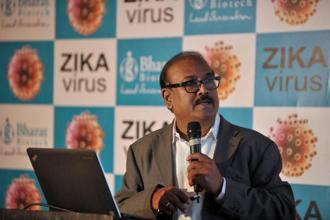 A file picture of Bharat Biotech founder Krishna Ella. The company's revenue comes mainly from exports to emerging markets and governments as well as multilateral agencies like Unicef and WHO. Photo: AFP