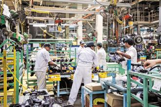 The Index of Industrial Production (IIP) shrank 1.3% in December led by manufacturing after Diwali shutdowns led to a 3.4% contraction in IIP in November. Photo: Bloomberg
