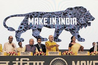 The 'Make in India' week kicks off on Saturday, aimed at luring greater investment to increase output and create more jobs in industries including electronics manufacture and textiles and apparel. File Photo: Hindustan Times