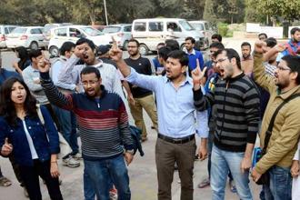 A protest meeting was held in JNU on 9 Feb, the third anniversary of the execution of Afzal Guru, a terrorist involved in the 2001 Parliament attack. The students called Afzal Guru a martyr in their slogans. ABVP supporters began to protest against this on 10 Feb.
