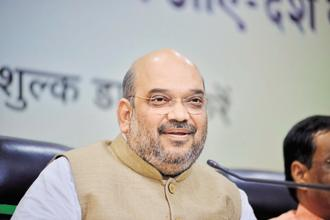 BJP president Amit Shah will decide who will become the party chief in Uttar Pradesh. Photo: Pradeep Gaur/Mint