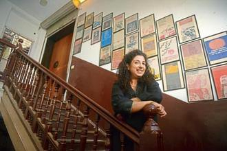Gallerist Shireen Gandhy outside her gallery Chemould Prescott Road, Mumbai. Photot: Abhijit Bhatlekar/Mint
