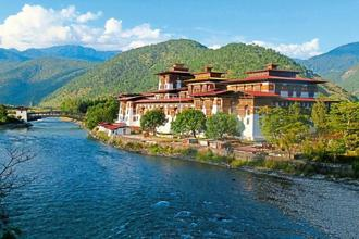 The Punakha Dzong sits at the confluence of the Mo Chhu and Pho Chhu. Photographs by Charukesi Ramadurai
