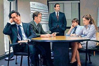 A still from The Office, an American sitcom which showcases the many idiosyncrasies of a workplace.
