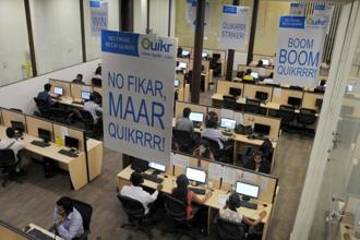 Quikr reported sales of <span class='WebRupee'>Rs.</span>24.78 crore for the year ended 31 March 2015, according to documents filed with the Registrar of Companies. Photo: AFP