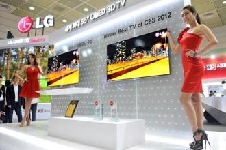 The partnership's first TV using organic light-emitting diode (OLED) displays is expected to be launched next year. Photo: AFP