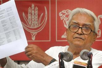 A file photo of Left Front chairman Biman Bose. Photo: PTI
