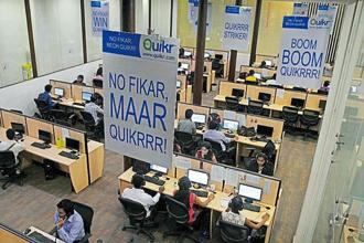 A file photo of the Quikr company headquarters in Mumbai. Quikr's valuations seem disproportionate to its revenue as it reported sales of <span class='WebRupee'>Rs.</span>24.78 crore for the year ended 31 March 2015. Photo: AFP