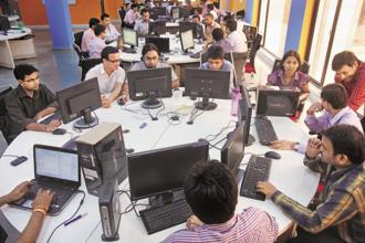 The information asymmetry long faced by firms looking to outsource their IT work has since died off, and clients are ever more sophisticated and willing to try upstart IT services players to build bespoke and well-engineered applications. Photo: Hindustan Times