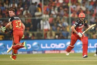 Bangalore kept picking up wickets in the immediacy of Warner's fall. PTI