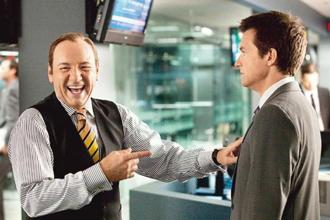 Kevin Spacey (left) and Jennifer Aniston (see below) play cruel managers in the film Horrible Bosses.