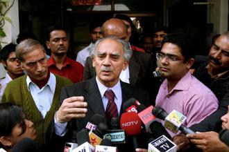 A file photo of former union minister Arun Shourie. Photo: Hindustan Times