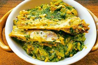 Khar with fish head and radish leaves. Courtesy: Sneha
