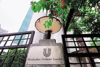 Shares of Hindustan Unilever gained as much as 2.24% to <span class='WebRupee'>Rs.</span>888.15 apiece, before closing 1.86% higher at <span class='WebRupee'>Rs.</span>884.90, on Friday. Photo: Pradeep Gaur/Mint