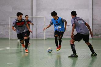 A game of futsal under way at Sport Club Do Recife in Recife, Brazil. Photo: Ruben Sprich/Reuters