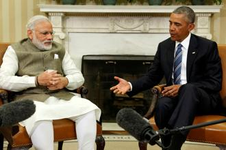 Obama and Modi committed to promote stability in cyberspace based on the applicability of international law including the United Nations Charter. Photo: Reuters