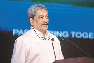 Defence minister Manohar Parrikar says total gender parity will be achieved in the armed forces in the coming years. Photo: Abhijit Bhatlekar/Mint